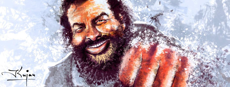 Karl Kujau malt Bud Spencer und andere Stars